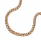 Preview: Armband 2,4mm Zopfkette bicolor 14Kt GOLD 19cm